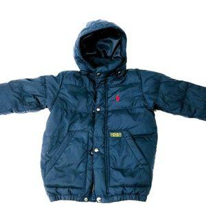 Polo Ralph Lauren 4T Boys Coat Navy Blue Puffer Qu